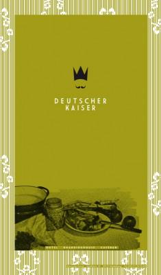 Deutscher Kaiser – Speisekarte